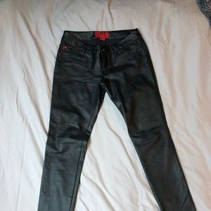 Tripp NYC faux leather skinny jeans 28